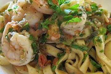 Shrimps - Weißwein - Sauce für Pasta