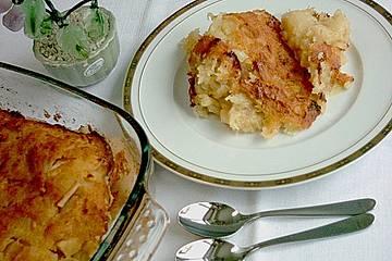 Klatovy - Kartoffelauflauf mit Äpfeln oder Zwetschgen