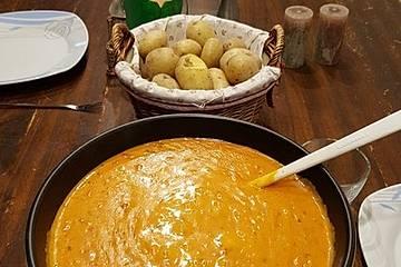 Tomaten - Käse Fondue