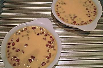 Crème brûlée mit Granatapfel