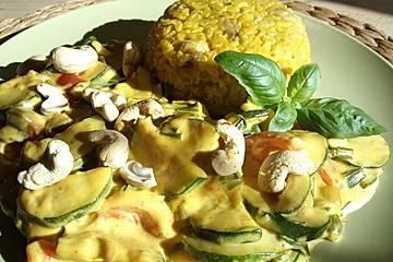Bananen - Curryreis mit Zucchini