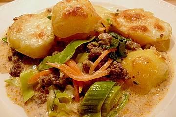 Kartoffel - Lauch - Auflauf