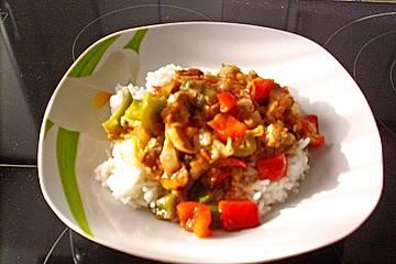 Indonesische Filetpfanne mit Chicoree