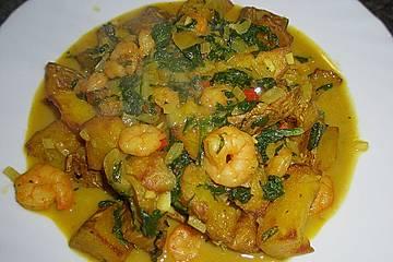 Garnelen - Curry