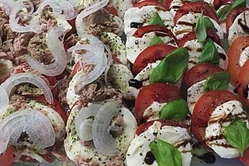 Tomaten - Thunfisch - Mozzarella - Salat
