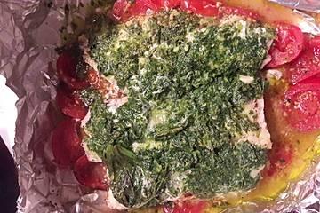 Tomaten - Rotbarsch in der Folie