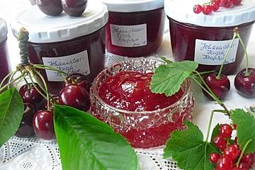 Johannisbeer - Kirsch - Marmelade