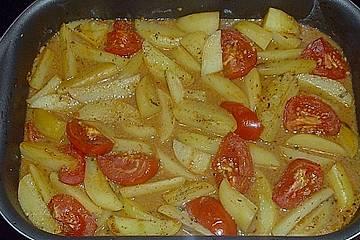 Ofenkartoffeln mit Tomaten