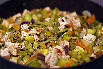 Gemüse-Puten-Pfanne