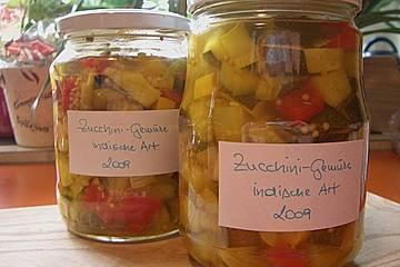 Zucchini - Gemüse auf indische Art