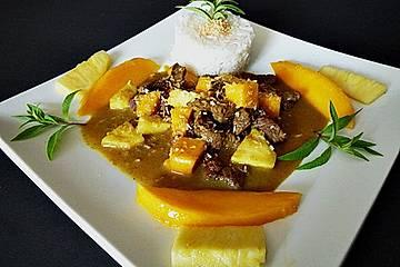 Ananas - Mango Fleischtopf