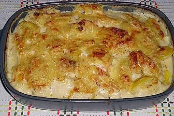 Kartoffelauflauf mit Lachs