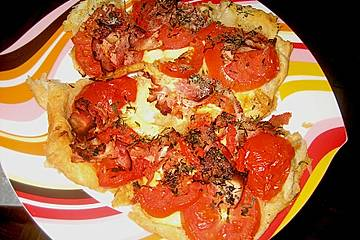 Tomatenkuchen mit Speck