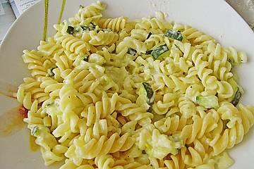 Zucchini - Käse Sauce für Spaghetti