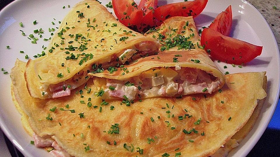 Pfannkuchen Mit Zwiebel Schinken Füllung Von Krissi75 Chefkoch