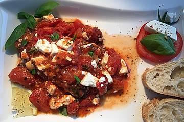 Thunfischsteak mit Feta - Tomaten
