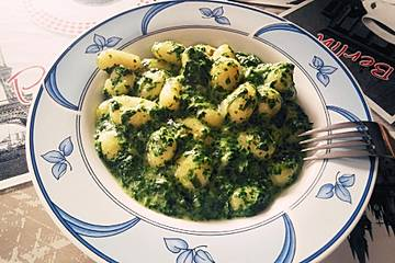 Gnocchi in Spinatkäsesoße