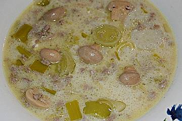 Champignon - Lauch Käsesuppe