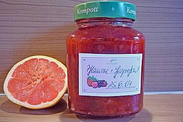 Zwetschgenkonfitüre mit Grapefruit