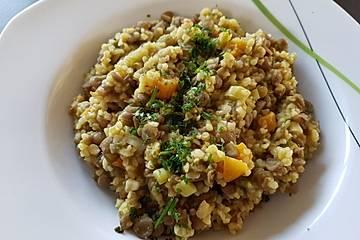 Aprikosen - Linsen - Curry