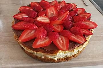 Traumhafte Erdbeer-Käsetorte
