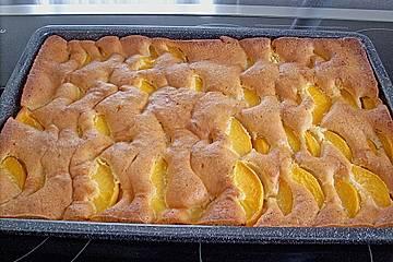 Pfirsich - Mandel - Kuchen