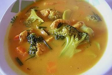 Suppe mit Riesengarnelen und Safran