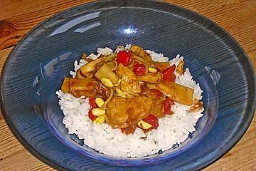 Paprika - Hühnchen mit Basmati - Reis