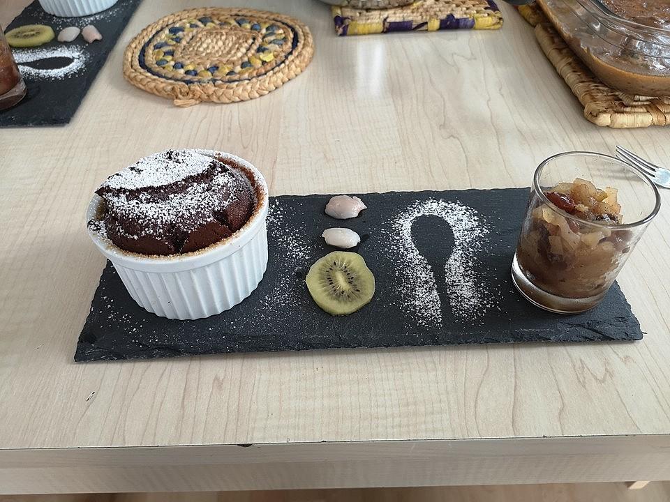 Schokoladenkuchen Mit Flussigem Kern A La Italia Von Kofuma Chefkoch