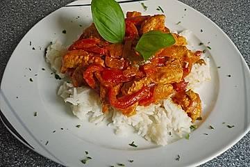 Putengeschnetzeltes mit Paprika