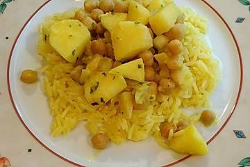 Apfel-Kichererbsen-Curry