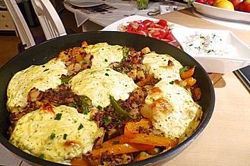 Kartoffel - Paprika - Pfanne mit Hackfleisch