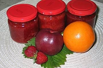 Nektarinen - Erdbeer - Grapefruit Marmelade