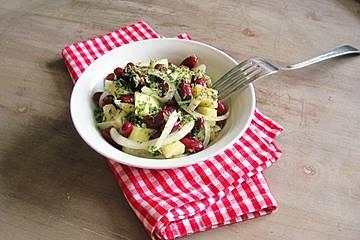 Kidneybohnen - Apfel - Zwiebel - Salat