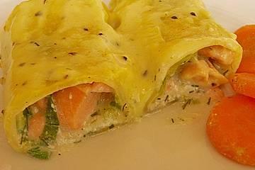 Cannelloni mit Lachsfülle