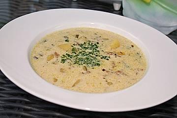Erdäpfel - Zucchini - Käse Suppe
