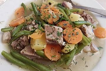 Hammelfleisch mit grünen Bohnen