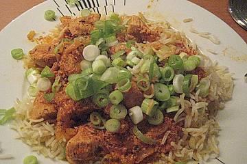 Rindfleisch Curry Madras