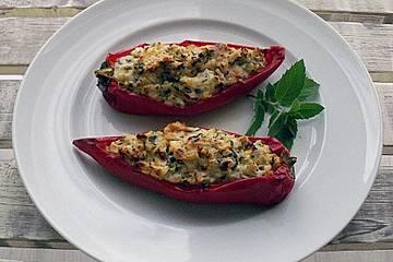 Gefüllte Paprikaschoten vegetarisch