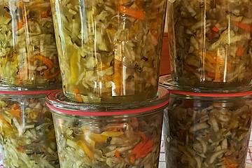 Zucchinisalat - Salat zum Einkochen