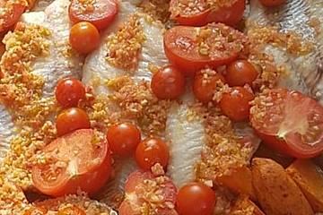 Rotbarsch mit Süßkartoffeln