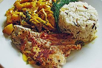 Seelachs - Curry mit Lauch und Ananas