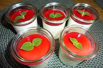 Hollerblütensirup - Joghurt - Mousse