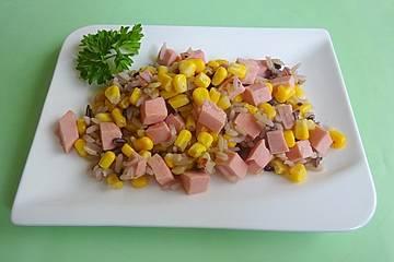 Schnelle Curryreispfanne