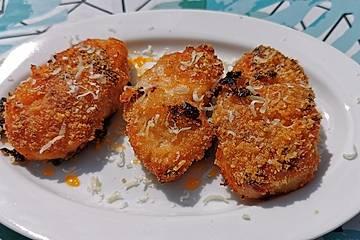 Knoblauch Pute in Parmesan Kruste