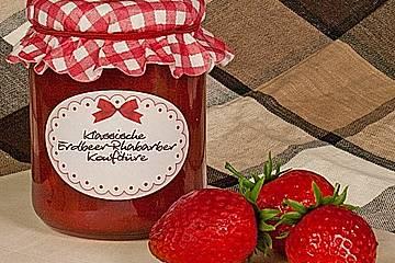 Erdbeer - Rhabarber - Marmelade