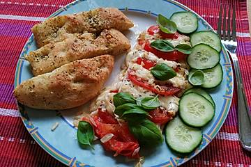 Gebackene Mozarella - Tomaten