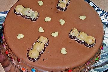 Schokotorte mit Giotto - Puddingcreme