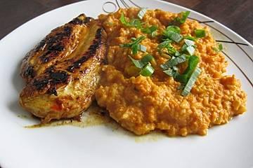 Indisches Karotten - Reis - Gericht