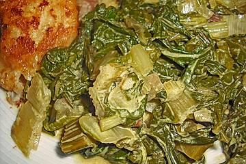 Mangoldgemüse mit Curry